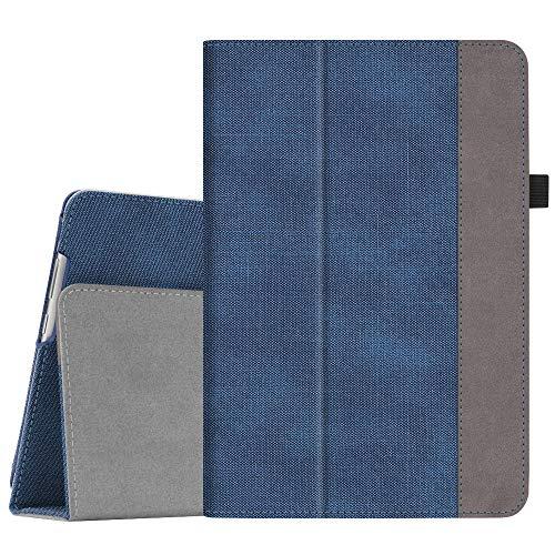 Fintie Hülle Hülle für Huawei MediaPad M5 Lite 10 - Ultra Schlank Folio Kunstleder Schutzhülle mit Auto Sleep/Wake Funktion für Huawei MediaPad M5 Lite 10 10.1 Zoll 2018 Tablet PC, Jeansoptik Blau