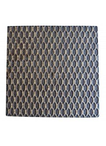 Home Maison HM69991523 Pince de Décoration Carrée Esprit Tressé Résine/Bois 6,5 x 6,5 cm