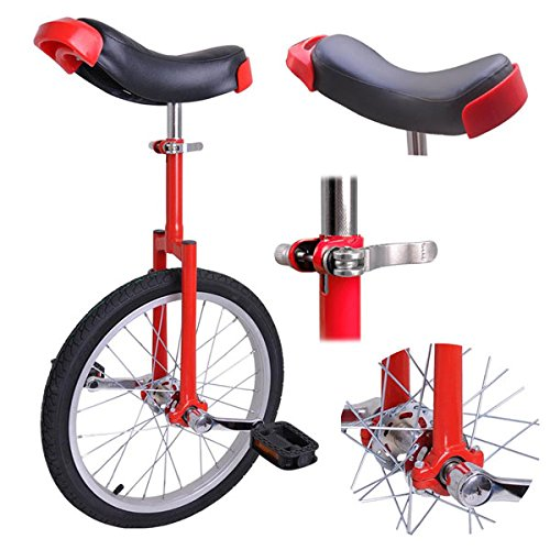 Buy Bargain 18 inch Wheel Unicycle Red
