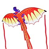 ZHUOYUE Supersize 3D Dragon Kites for Adults, Easy to Fly Kite for Kids Rispstop Nylon Kite Beach Park and Outdoor Games Toys,56x127 inch