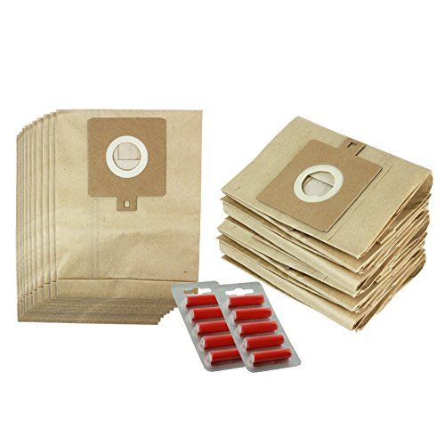 Spares2go Hoover Tassen voor Lidl Delta KS1202 Stofzuigers (10 Pack, 20 Pack + Optionele Tas Freshener Sticks) 20 Bags + 10 Freshener Sticks