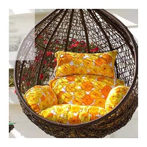 Cojines al aire libre para Sillas de Patio Campo Patio oscilación Cesta colgante amortiguador de asiento for el exterior rural Espesar mimbre Rattan Hanging huevo silla de la hamaca del amortiguador d