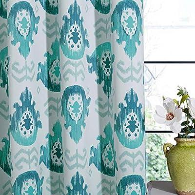 KGORGE Blackout Grey Curtains - Floral Print Cu...