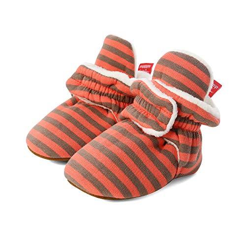 LACOFIA Baby Jongens Meisjes Laarzen Baby Antislip Zachte Zool Winter Slipper Schoenen Oranje 12-18 maanden