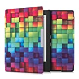 kwmobile Case Compatible with Kobo Aura H2O Edition 1 - Case e-Reader Cover - Rainbow Cubes Multicolor/Green/Blue