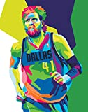 Dirk Nowitzki Poster – NBA Basketball Wanddruck –