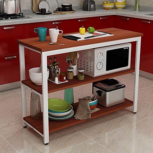 Tafels Magnetron Oven Plank 3 Tier Keuken Workstation Vrijstaande Unit Hoek Planken Opslag Organisatie Rack, MDF Houten En Staal CJC