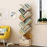 LXDDP Modernes Bücherregal - Freistehendes Bücherregal aus Holz mit Mehreren Etagen und Y-förmigem Dekor - Aufbewahrungsorganisator für Küche, Wohnzimmer, Schlafzimmer