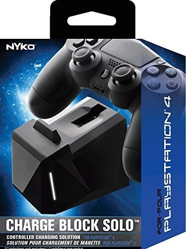 Nyko Charge Block Solo - Controller Charging Station with Patented Charge Dongle and Micro-USB/AC Power Cord for Playstation 4