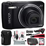 Minolta MN12Z 20 Mega Pixels HD Digital Camera w/12x Optical Zoom (Black) + 32BG + Cases + Strap Deluxe Accessories Bundle