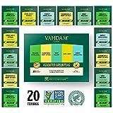 VAHDAM, Green Tea Sampler | 5 Teas, 4 Pyramid Tea Bags Each | Organic Himalayan, Mint Melody,...