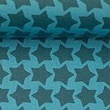 Beschichtete Baumwolle Farbenmix Staaars türkis/Petrol  