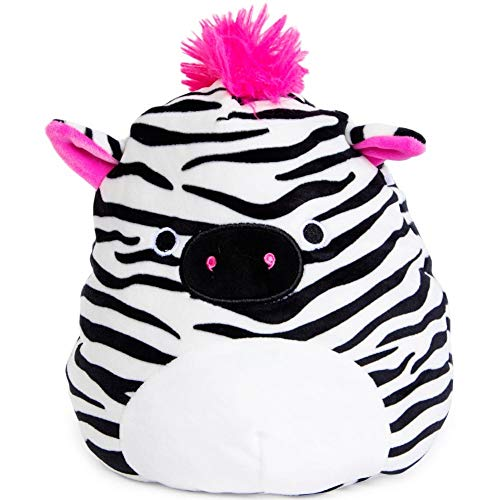 Squishmallow Kellytoy 8' Tracey The Zebra New Assortment 3- Super Soft Plush Toy Animal Pillow Pal Pillow Buddy Stuffed Animal Birthday Gift Holiday