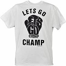 Lets Go Champ Shannon Cannon Briggs White Blk Short Sleeve Mens Boxer Tshirt LG