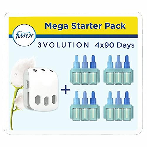 Febreze 3Volution Duftstecker (80 ml) Reine Frische, Starterset, Raumduft und Lufterfrischer (4 x 20 ml)