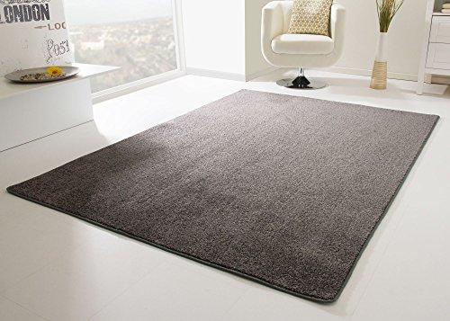 Designer Teppich Modern Cambridge in Anthrazit, Größe: 200x200 cm