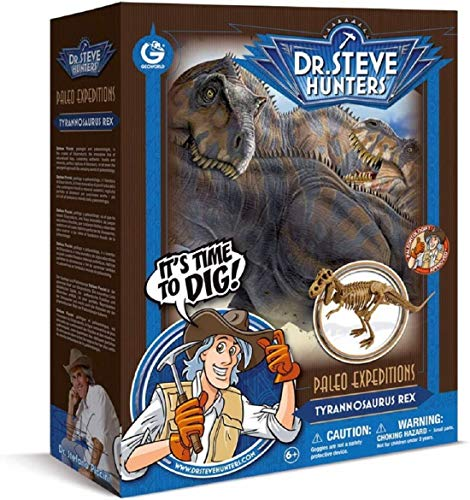 Geoworld 625300 - Dr. Steve Hunters: Dino Ausgrabungs-Set - T-Rex-Skelett, Alter: 6+, Größe: 34 cm