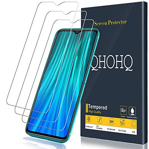 QHOHQ Verre Trempé pour Xiaomi Redmi Note 8 Pro, [3 Pièces] 9H Dureté Anti Rayures Ultra Clair Protection écran pour Xiaomi Redmi Note 8 Pro