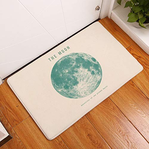 HLXX Planet Printed Floor Mat Tapetes para Puertas de Entrada Alfombra de absorción de Agua Alfombras de Cocina Felpudo Sala de Estar Alfombra Antideslizante A6 50x80cm