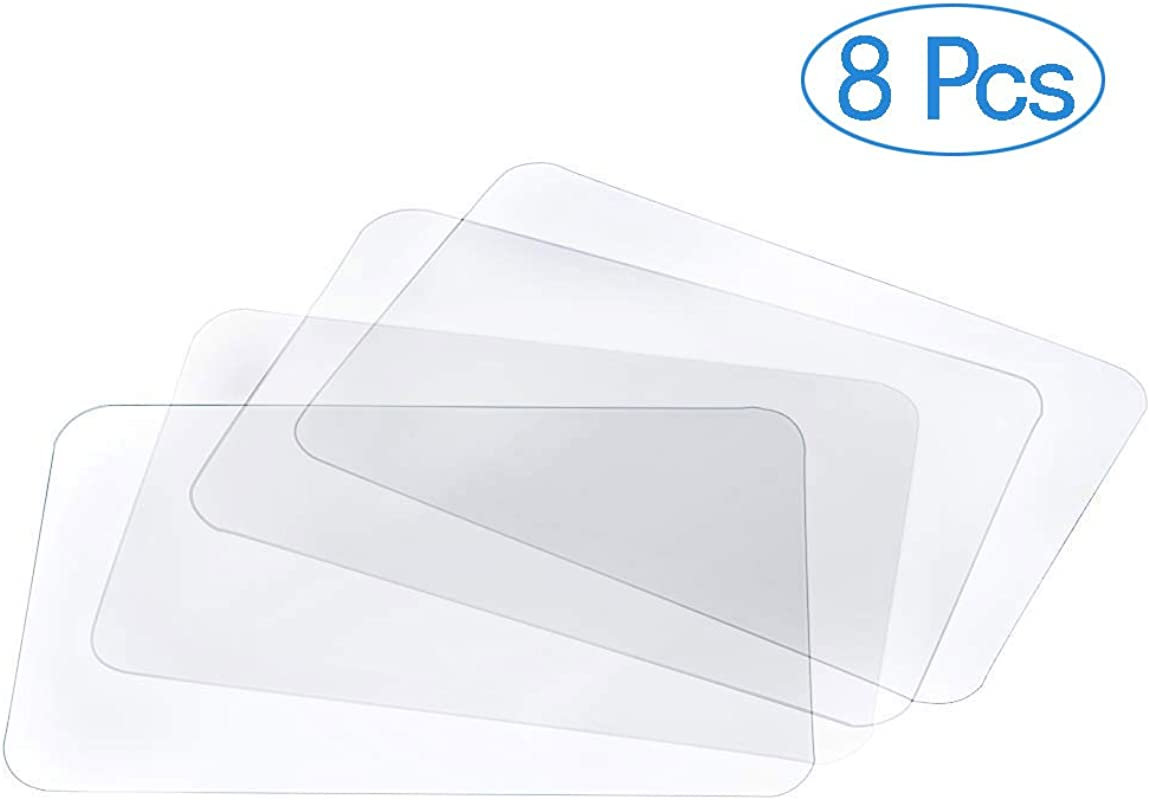 BESSEEK Translucent Placemat Washable Table Mats For Dining Table Heat Resistant Non Slip Kitchen Table Mats Dining 8pcs