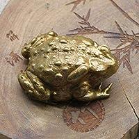 真鍮ゴールデンヒキガエルラッキーティーペットヴィンテージシミュレーション動物置物ミニチュアホームオフィスデスク装飾車の装飾工芸品