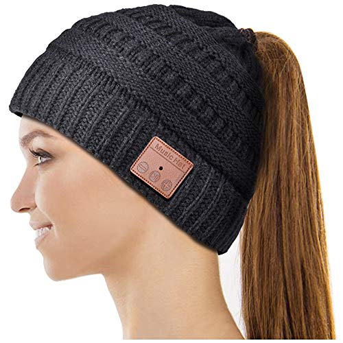 Our #4 Pick is the Highever Ponytail Bluetooth Beanie