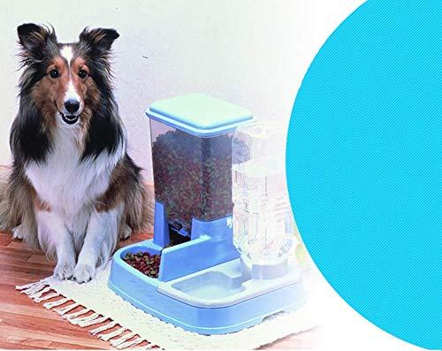 XXL 2in1 Futter- & Wasserspender, Duo Futterautomat für Hunde & Katzen, Kunststoff