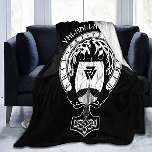 LISNIANY Flanell Fleece Soft Throw Decke,Kriegsschiff der Wikinger,für Sofas Sofa Stühle Couch Leicht,warm und gemütlich 204x153cm