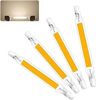 YQGOO Bombillas LED R7S 78mm 118mm, 230V Reemplazo de 50W 100W 200W Lámpara halógena, LED COB de Doble Extremo R7S Base Reflector Luz Lineal 360 ° Ángulo de Haz Regulable, 20W 118MM 4 PCS