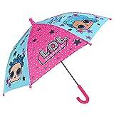 Paraguas LOL Surprise Niña Manual Largo - Sombrilla Muñecas Lolly Resistente Antiviento - Paraguas N...