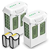 KUNLUN 2 Pack 15.2V 5870mAh Phantom 4 Replacement Battery for DJI Phantom 4, Phantom 4 Pro V2.0, Phantom 4 Pro Plus, Phantom 4 Advanced Drone with 2 Battery Safe Bags
