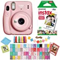 Fujifilm Instax Mini 11 Blush Pink Instant Camera with Twin Pack Instant Film, Ritz Gear Frame Stickers a nd Ritz Gear Hanging Frames by FUJIFILM