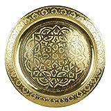 Casa Moro - Bandeja Redonda de latón marroquí Karam, diámetro de 50 cm, de...