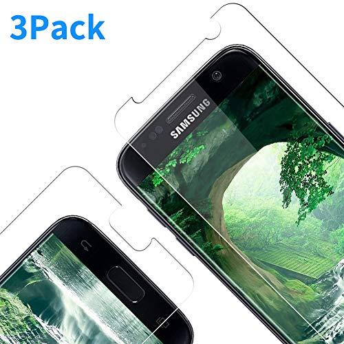 RIIMUHIR Panzerglas Schutzfolie für Samsung Galaxy S7, Gehärtetes Glas mit [9H Härte], Displayschutzfolie Folie für Samsung Galaxy S7, Screen Schutzglas für Samsung Galaxy S7 - [3 Stück]