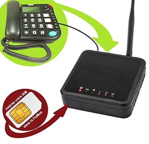 MLA FixMob Innovation Mobiho-Essentiel - Transformez Votre combiné Fixe en Mobile en branchant Simplement à la Fixmob - DEBLOQUE Tout OPERATEUR