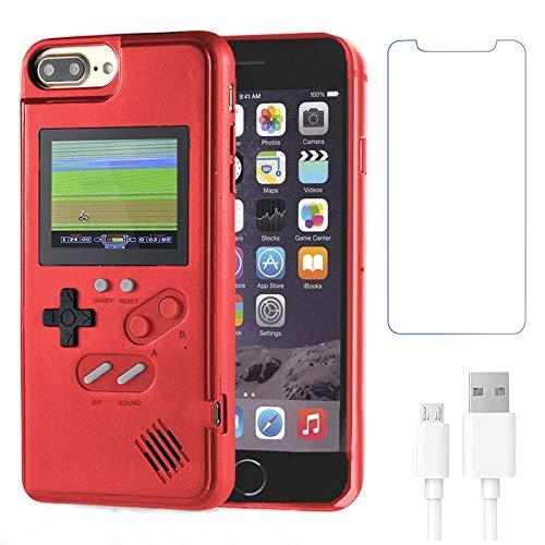 Gameboy Schutzhülle für iPhone 6 Plus/6S Plus/7 Plus/8 Plus, Handheld Retro 36 klassische Spiele, Farbvideo-Bildschirm, Game-Hülle iPhone, kratzfeste, stoßfeste Handy-Schutzhülle von WeLohas