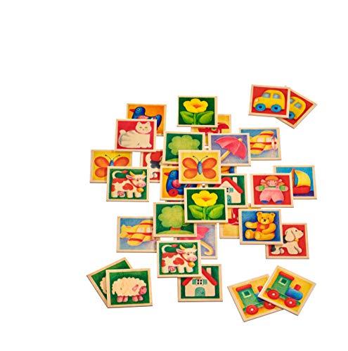 Selecta 63017 Memo Kunterbunt, Legespiel, 36 Teile mehrfarbig