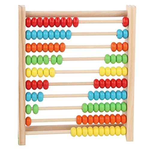 jieGorge Entwicklungsspielzeug aus Holz Bunt gefärbtes Holz 100 Perlen für Kinder Mathematik, Lernspielzeug, Spielzeug und Hobbys für den Ostertag (B)
