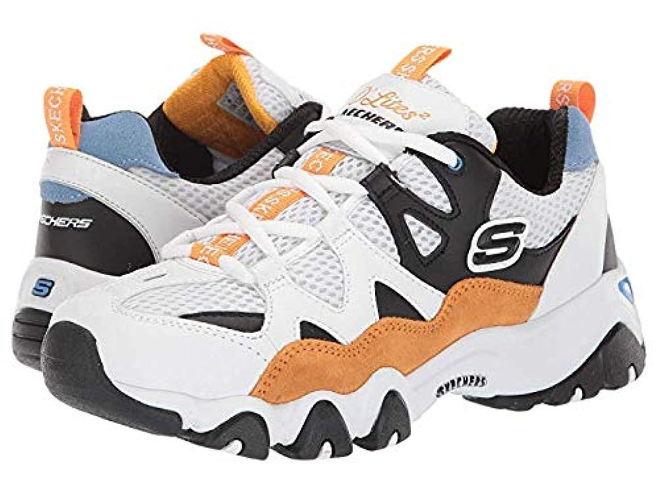 [スケッチャーズ] レディーススニーカー?靴?シューズ D'Lites 2.0-Wild Summers White/Black/Gold US 7.5 (24.5cm) B - Medium [並行輸入品]