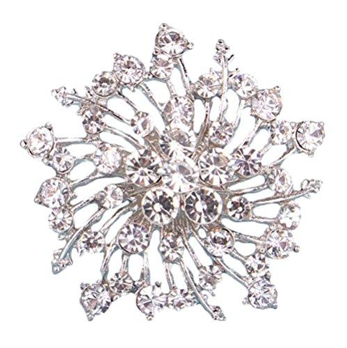Toruiwa 1X Broches de bisuteria Broches de Ropa Broches para Vestidos Joyeria Antigua Vintage Mujer Broche de Diamantes de imitación Femenino 5.3 * 5.3cm