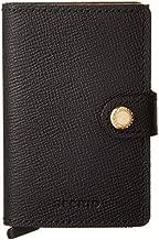 Secrid Women Mini Wallet Genuine Leather crisple RFID Safe Card Case for max 12 cards (Black Gold)