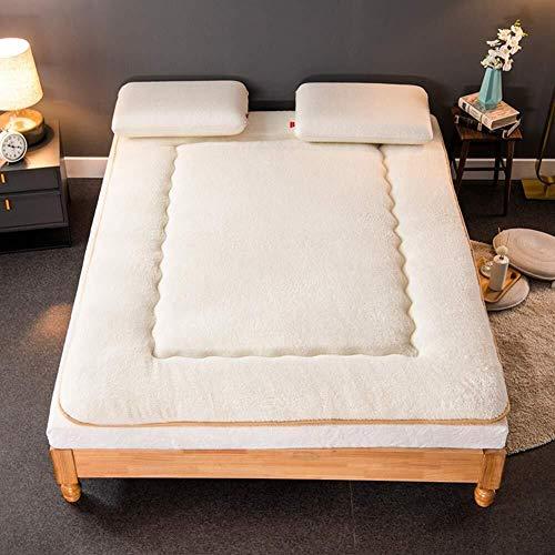 JKL J-Almohada Felpa futón colchón Topper, Plegable Tatami Estera del Piso del Amortiguador, Suelo Dormir de la Estera, Espesa el cojín de colchón de la Cama Topper