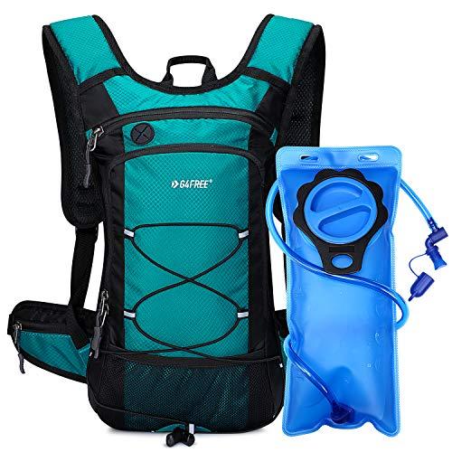 G4Free Mochila de hidratación Duradera Impermeable para Correr con Vejiga de Agua de 2L de Grado Alimenticio de PEVA para Senderismo Ciclismo Caminar