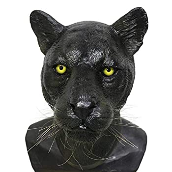 Black Panther Latex Mask Animal Leopard Jaguar Mask Carnival Party Mask Halloween Costume Masqurade Party Cosplay