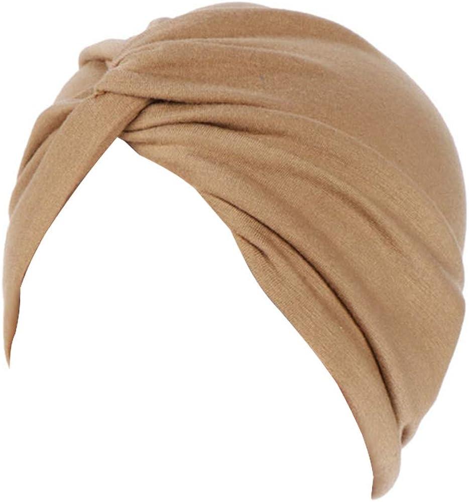Fxhixiy Women's Cotton Max 56% OFF price Twist Sleep Beani Hat Cancer Turban Chemo