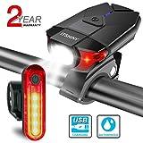 ITSHINY luz Bicicleta, Luces para Bicicleta LED Recargable e Impermeable - Combinaciones d...