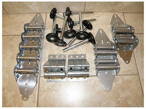 Quiet Kit: Garage Door Hinge & Roller Tune Up Kit for 8x7 or 9x7 w/nylon rollers