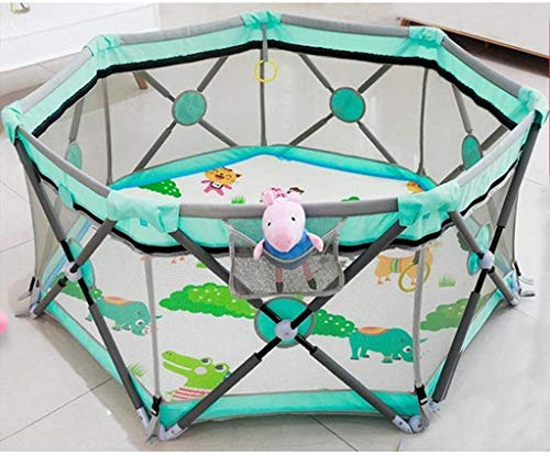 Lowest Price! Teppichks Baby Indoor Game Crawling Mat Fence Baby Fence Children Home Toddler Folding...