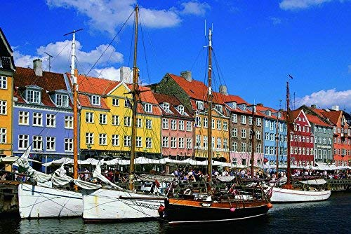 1000 Piece Jigsaw Puzzle, Nyhavn Copenhagen, Puzzles for Adults 1000 Piece, Jigsaw Puzzles for Child, Adults Home Decor