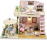 Casa De Muñecas Hecha A Mano En Miniatura De Madera 3D, Kit De Modelo De Casa De Muñecas Creativa Cumpleaños - Decoración del Hogar